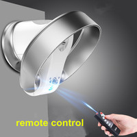 Houselold Desktop multi purpose shaking ultra quiet intelligent remote control Bladeless fan Stand Fan for dormitory and Home