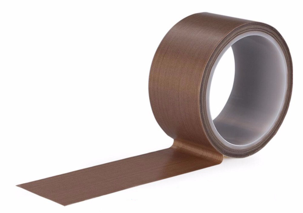 Length: 10M Width: 60mm Thickness: 0.13mm Teflon Fabric Tape PTFE Heat Tape Fiberglass Fabric Adhesive Tape Self Adhesive