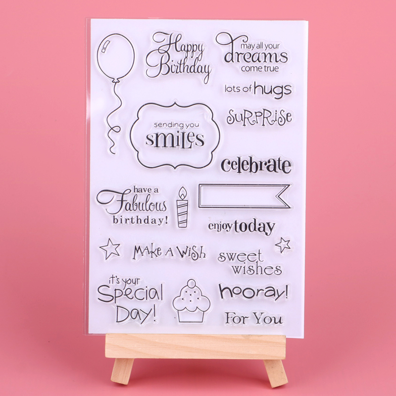 Happy Birthday/balloon/letter Transparent Clear Stamps For