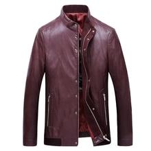 3XL-7XL New Arrival Leather Jackets Men's jacket middle-agedOutwear Men's Coats Spring & Autumn PU  De  Coat Plus Size leather