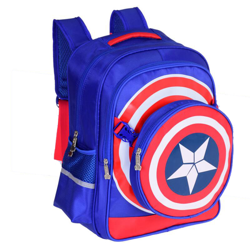 Prix pour 3 PCS Captain America Enfants Sacs D'école pour garçon Élèves du Primaire sac à dos belle Cartable sacs à dos enfants mochila escolar