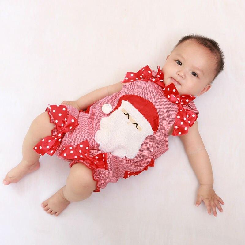 Divat baba karácsonyi rompers fiú lány ujjatlan mellény Mikulás - Bébi ruházat - Fénykép 4