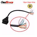 Obd2 16pin Female Connector To Open Obd OBDII Cable Adapter Extension cable 16pin Wiring Female Open wire Free Shipping