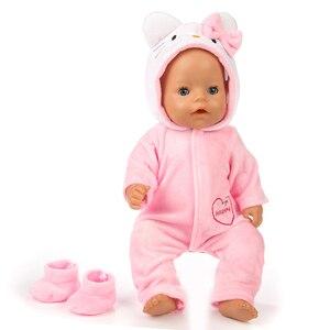 Image 4 - スーツ + 靴衣装のための17インチ43センチメートルツァップbaby born人形かわいいジャンパーロンパース人形服