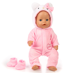 Image 4 - Suit+Shoes Dolls Outfit For 17 inch 43cm zapf  Baby  Born Doll Cute Jumpers Rompers  Doll Clothes