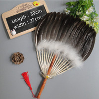 Chinese Style Classical Goose Feather Dance Fan Summer Handheld Feather Fan Performance Props Abanicos Para Boda Eventail a Main