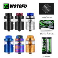 Wotofo RTA Vape Tank Profile Unity RTA 5ML/3.5ML Atomizer With 6mm Profile Cotton 0.18ohm Mesh Electronic Cigarette vs RDA RDTA