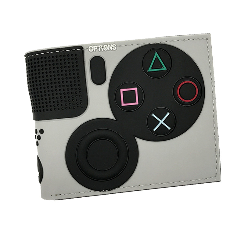 4 Wallet Id-Card-Holder Coin-Pocket Game Playstation Young Fashion with Short PVC 3D