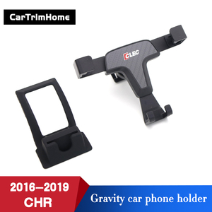 Image 3 - C hr Accessories Phone Holder For Toyota CHR 2016 2017 2018 2019 Gravity Mobile Cell Phone Holder c hr Air Vent Mount Stand