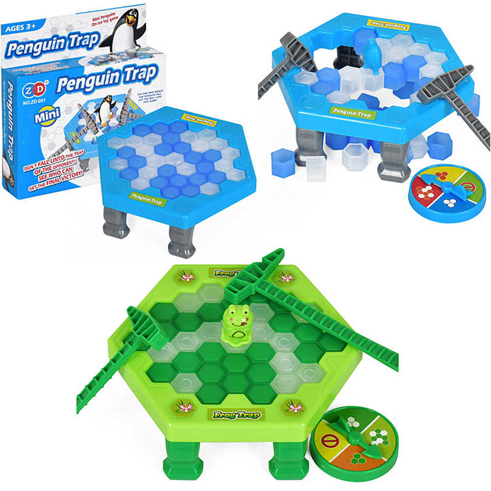 Mini Penguin Trap Board Game Ice Breaking Save The Penguin Party Game Parent-child Interactive Entertainment Table Toys Kid Gift