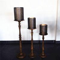 Diske импорт украшения коричневый деревянный подсвечник с полым гладить подсвечник украшения домашнего интерьера посадка лампа