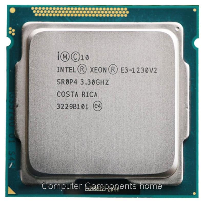 Intel Xeon Quad-Core Processeur E3-1230 v2 E3 1230 V2 3.3 GHz 8 MB LGA 1155 CPU LGA