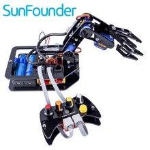SunFounder Rollarm Electrónica Diy kit de $ Number Ejes de Control de Servo Brazo Robótico con Mando Con Cable para Arduino uno R3