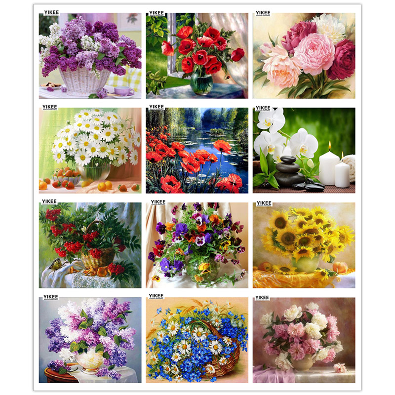 diamond painting full square,5d,diamond mosaic,diamond embroidery flowers