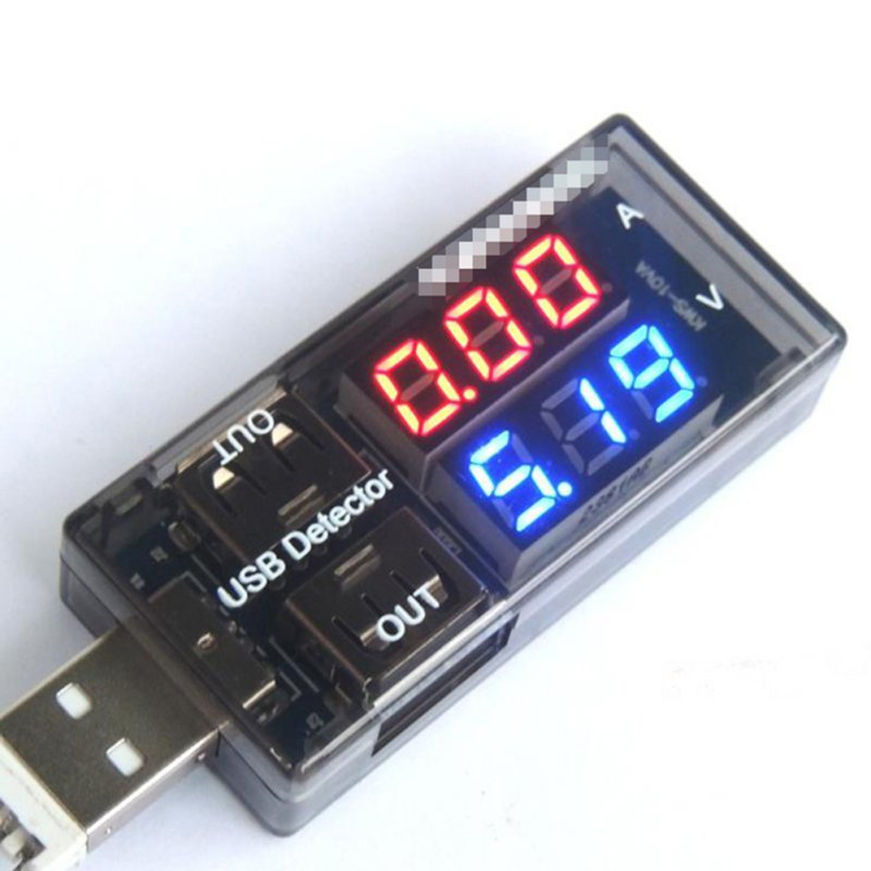 1X LED USB Current Voltage Charging Power Detector Tester Volt Meter Ammeter 2017 Hot double row shows usb current voltage tester usb voltage ammeter usb detector dual usb current voltage charger
