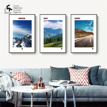CREATE&RECREATE Modern Poster Scenery Wall Art Canvas Paintings Landscapes Posters And Prints Decoration Pictures CR1810114014