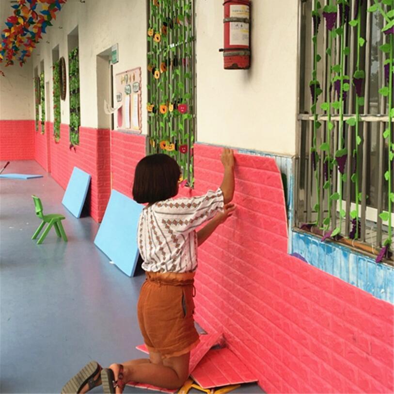 cm del papel pintado d diy pegatinas de pared de espuma pe ladrillo