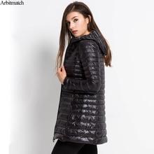 Arbitmatch New 2017 Women Down Coat Plus Size 6XL Winter Warm Jacket Ultra Light 90% Duck Down Jacket Hood Down Parka Female