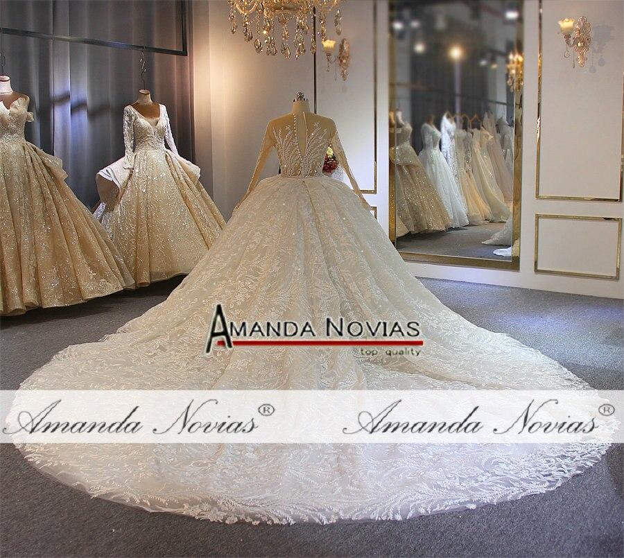 Image 3 - 2019 Amanda Novias full lace wedding dress mermaid with detachable skirt long trainWedding Dresses   -