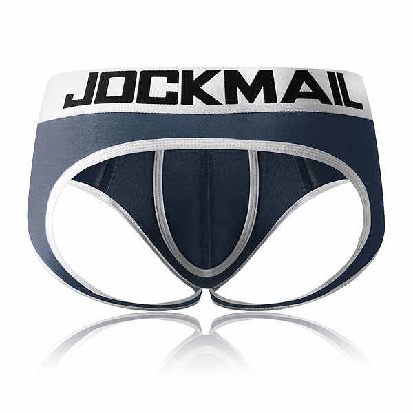 JOCKMAIL Open Backless crotch G-strings Sexy Men Underwear penis pouch mens briefs tanga Gay Underwear men bikini Slip Thongs