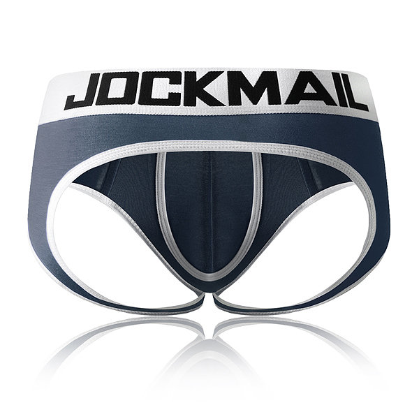 JOCKMAIL Open Backless crotch G-strings <font><b>Sexy</b></font> <font><b>Men</b></font> Underwear penis pouch <font><b>mens</b></font> briefs tanga Gay Underwear <font><b>men</b></font> <font><b>bikini</b></font> Slip Thongs image