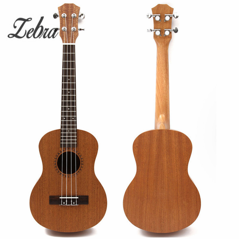 Zebra 26 Inch 4 Strings Sapele Alto Hawaii Ukulele Uke 18 Frets Concert Tenor Acoustic Guitar For Musical Instruments Lover acouway 21 inch soprano 23 inch concert electric ukulele uke 4 string hawaii guitar musical instrument with built in eq pickup