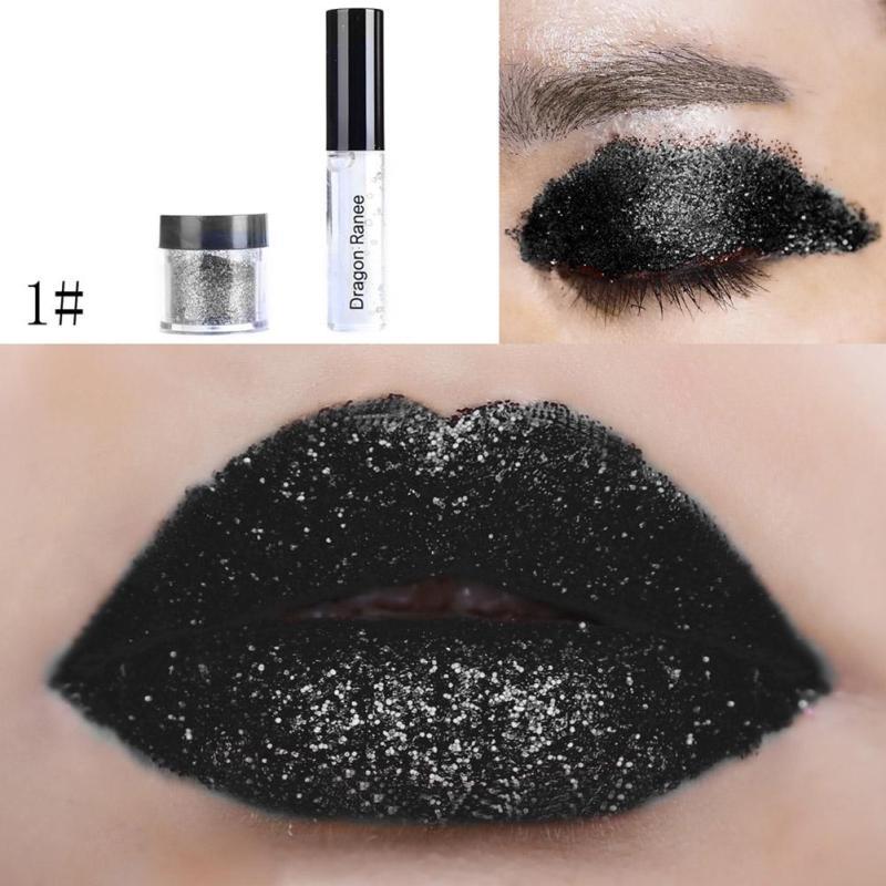 5G5Ml Black Lip Makeup Velvet Gel Shimmer Powder Lip Gloss Waterproof Non Fade Shiny Pigment -5502