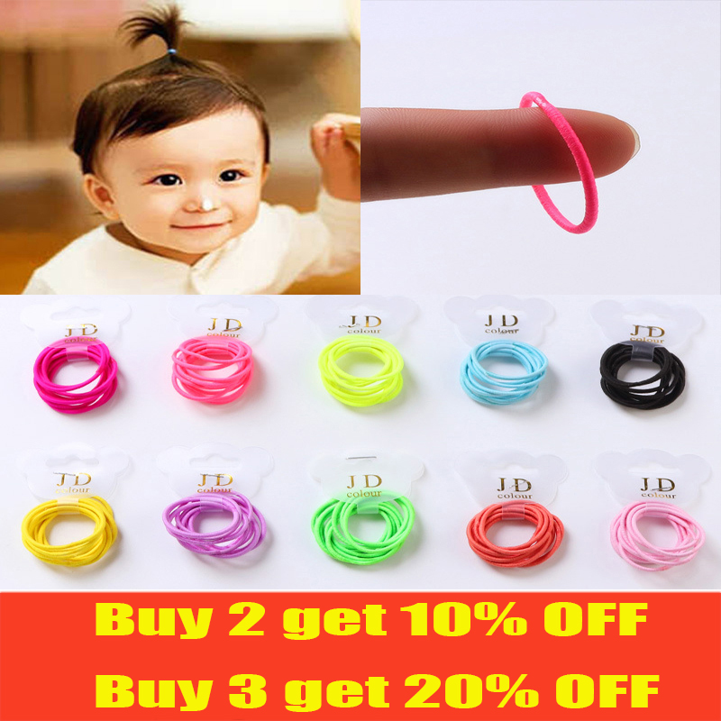 Small Elastic Hair Bands Scrunchies For Kid Girl Hair Accessories  Thin Hair Candy Colors Diameter 3cm(China)