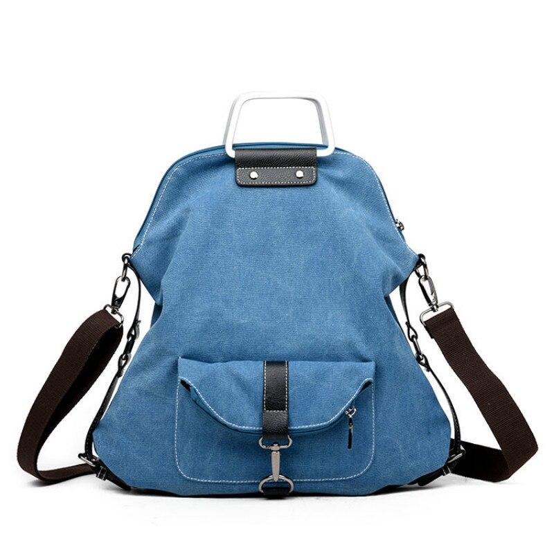 цена на Casual Women Backpack Female Backpacks High Quality Canvas Women Bag Women's Travel Backpack Laptop mochila New 2017