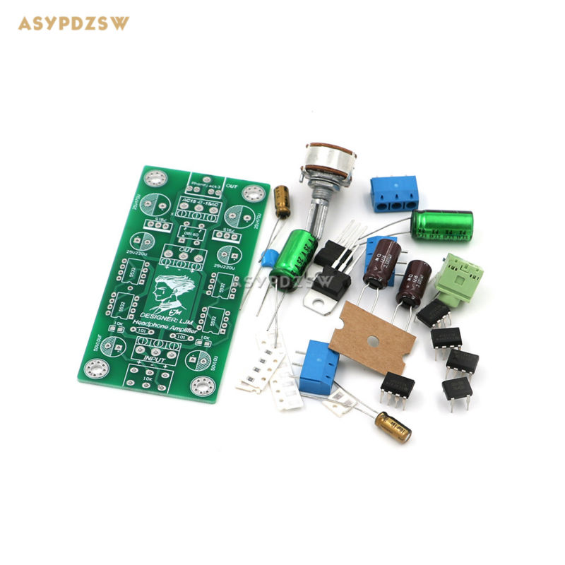 US $10 68 |P7 SE MINI Dual 15V Preamp DIY Kit Headphone power amplifier Kit  for 4xNE5532-in Headphone Amplifier from Consumer Electronics on