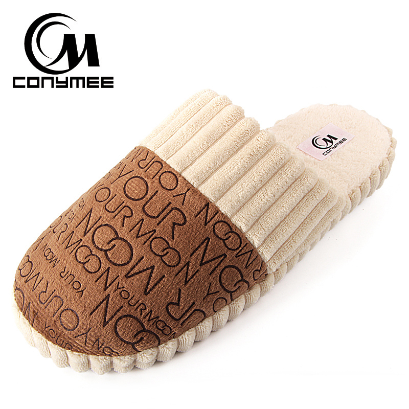 Winter Men Slippers Indoor Home Sneakers For Man Casual Cotton Shoes Pantufas Soft Plush Warm Slipper Erkek Terlik Suede Shoe
