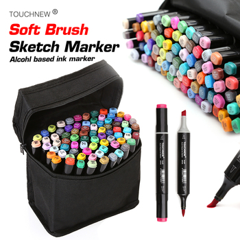 TOUCHNEW Soft Brush Marker Dual Headed Alcohol Based Sketch For Animation Manga Professional Drawing DesignSupplies - discount item  30% OFF Pens, Pencils & Writing Supplies
