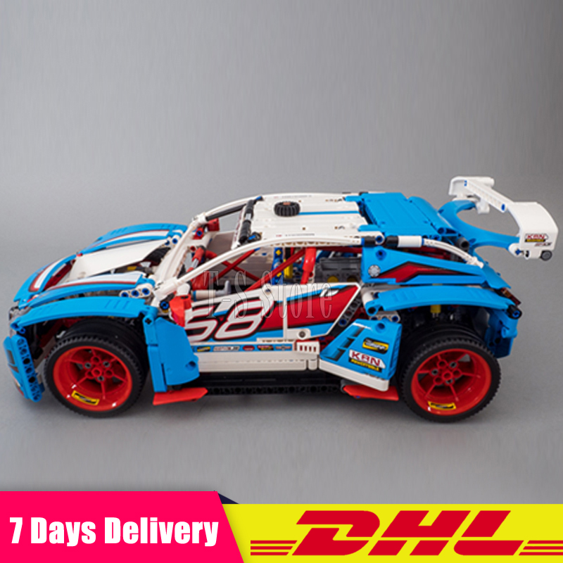 DHL IN Stock Lepin 20077 Genuine 1085Pcs Technic Series The Rally Car Set 42077 Building Blocks Bricks Funny Children Toys Gifts dhl lepin 18032 2932 pcs the mountain cave my worlds model building kit blocks bricks children toys clone21137 in stock