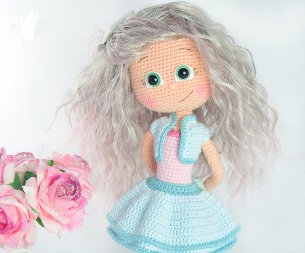 Crochet Toys  Amigurumi   Doll  Girl Number  WS0031