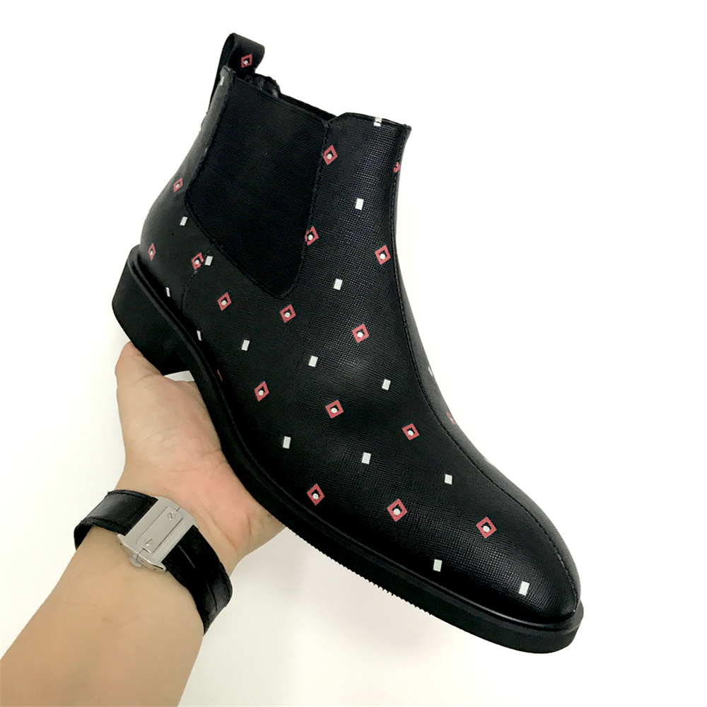 Hommes Blanco Rojo Y Chelsea Vestir Cuir Caballero Para Precio De En Cuero Pedicura Hombre Zapatos Negro Chaussures Lista gqwB6nHzq