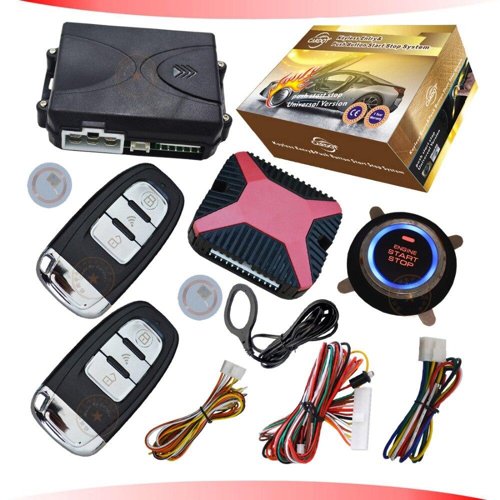 RFID poussoir start stop moteur système avec verrouillage central à distance ou déverrouiller fonction soutenir diesel ou essence de voiture start stop moteur