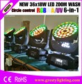 2 шт./лот профессиональное сценическое освещение Eternal Max Wash 360 Zoom Robe Robin 600 6 в 1 RGBW 36 шт. 18 Вт LED Moving Head