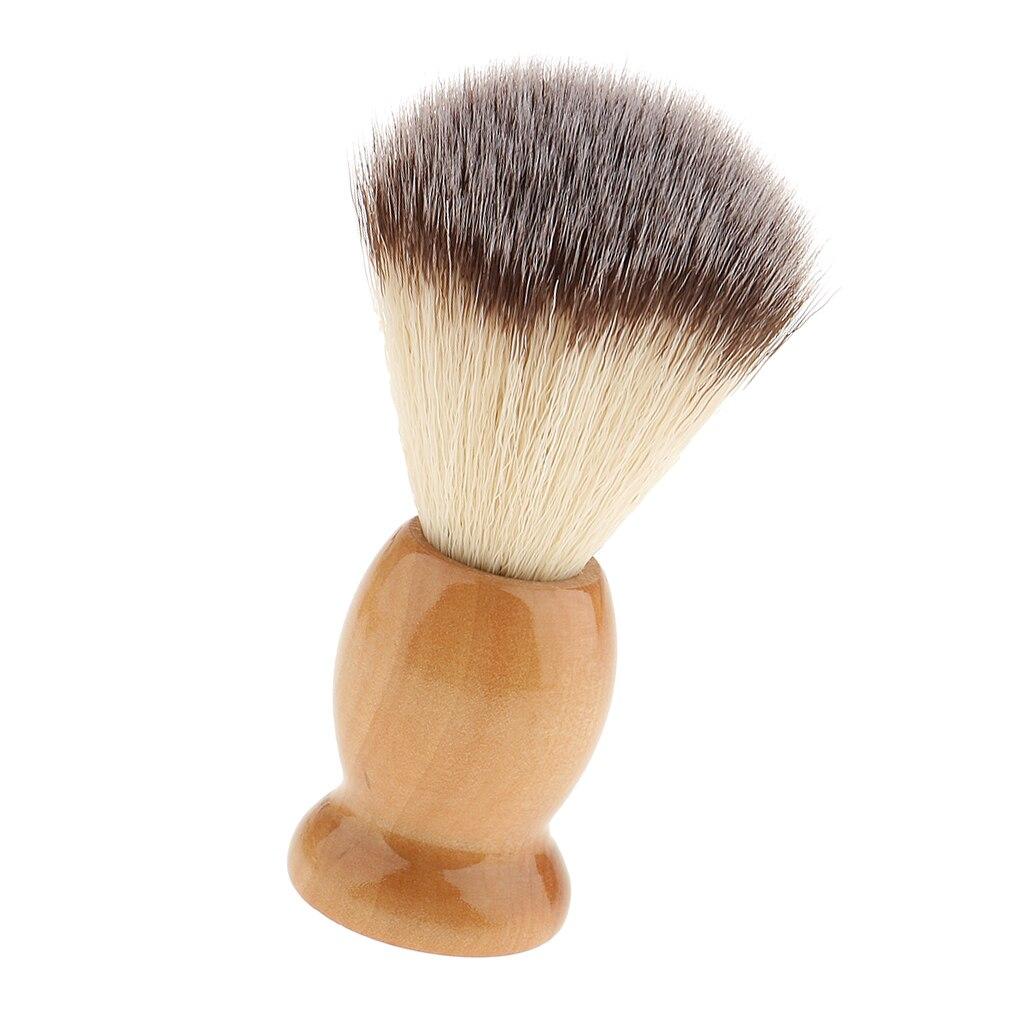 Lightweight Salon Barber Hair Cutting Dust Shaving Brush & Wood Handle Hair Styling Tools Set Accessories