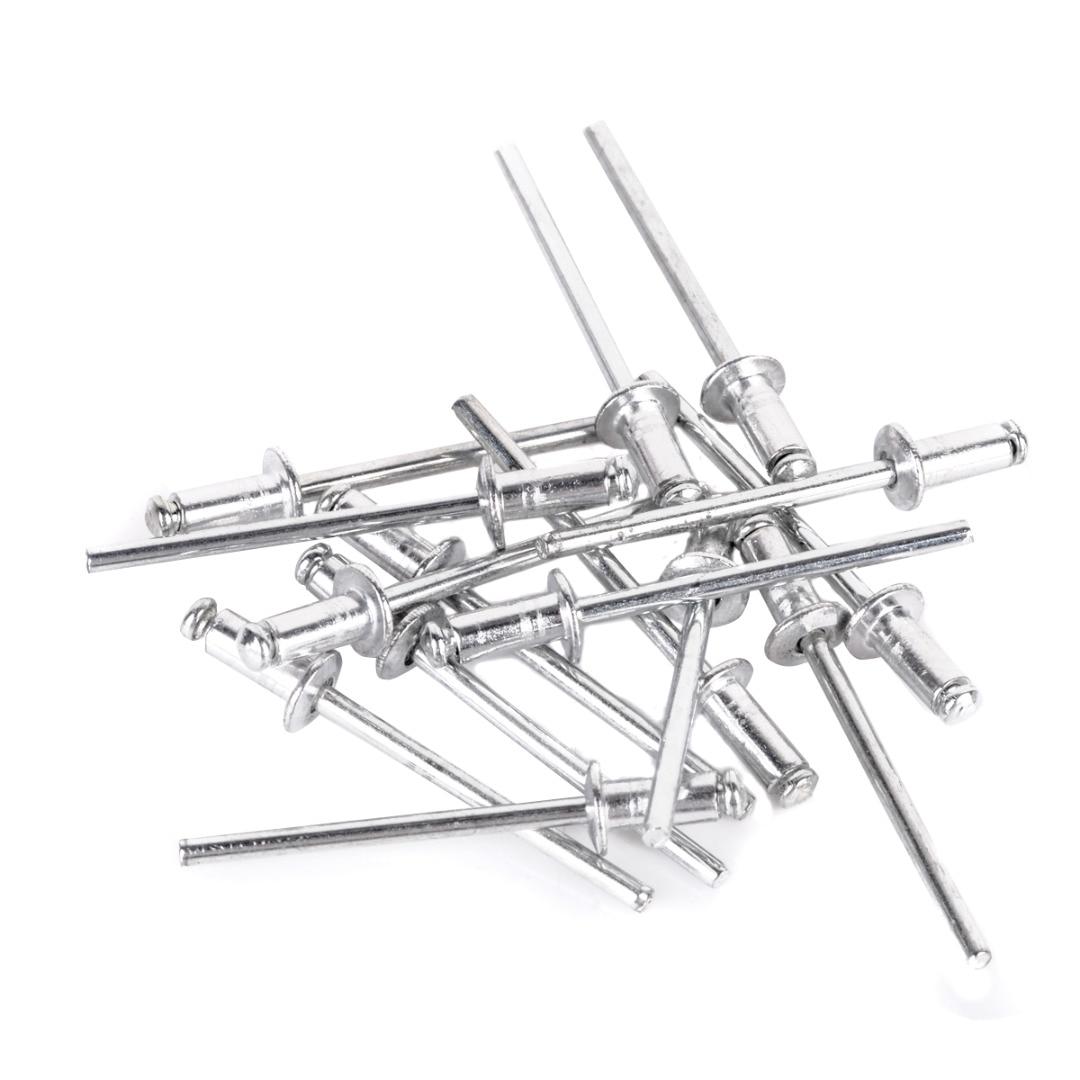 New Heavy Duty Hand Riveter Gun Useful Pop Riveter Gun Kit with 60 Steel Rivets Practical Furniture  Repair Handle DIY Tool Set
