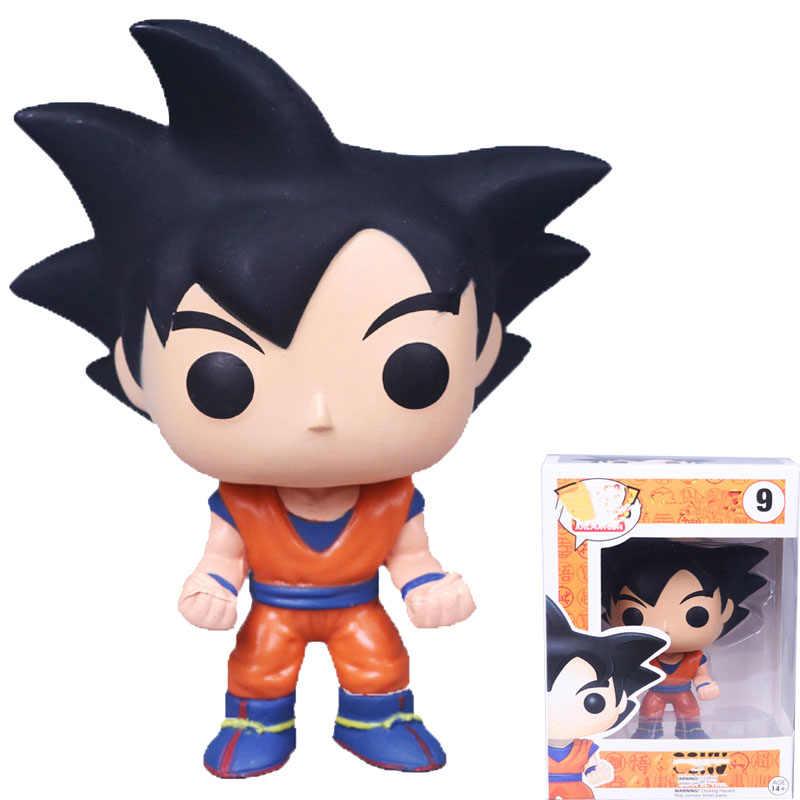 Высота каблука 10 см поп Dragon Ball Z экшн-фигурка Goku экшн Коллекционная кукла модель игрушки для детей на день рождения, подарок на Новый год