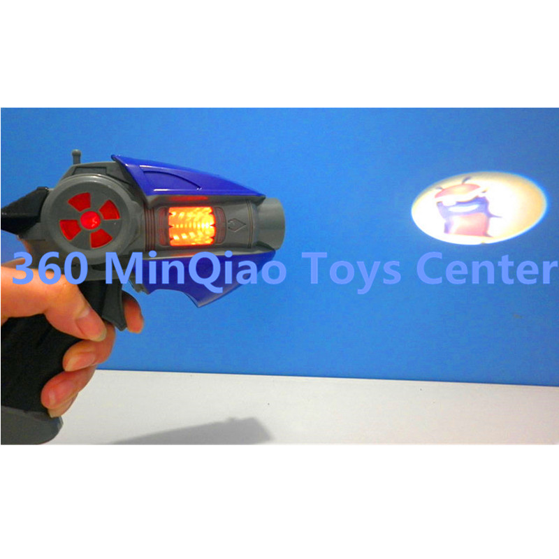 23CM Cartoon Anime Slugterra Sounding Light Toy Gun Give 1 Slugterra Doll Action Figure As Presents Boy Toy Pistol Gun WU860