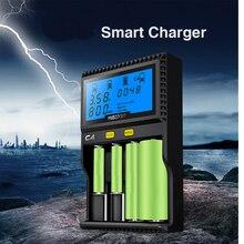 Original Yakee MIBOXER Inteligente LCD USB Cargador de Batería para 26650 18650 18500 Li-ion/IMR/INR/ICR/Ni-MH/Ni-cd LiFePO4 3.7 V Enchufe de LA UE