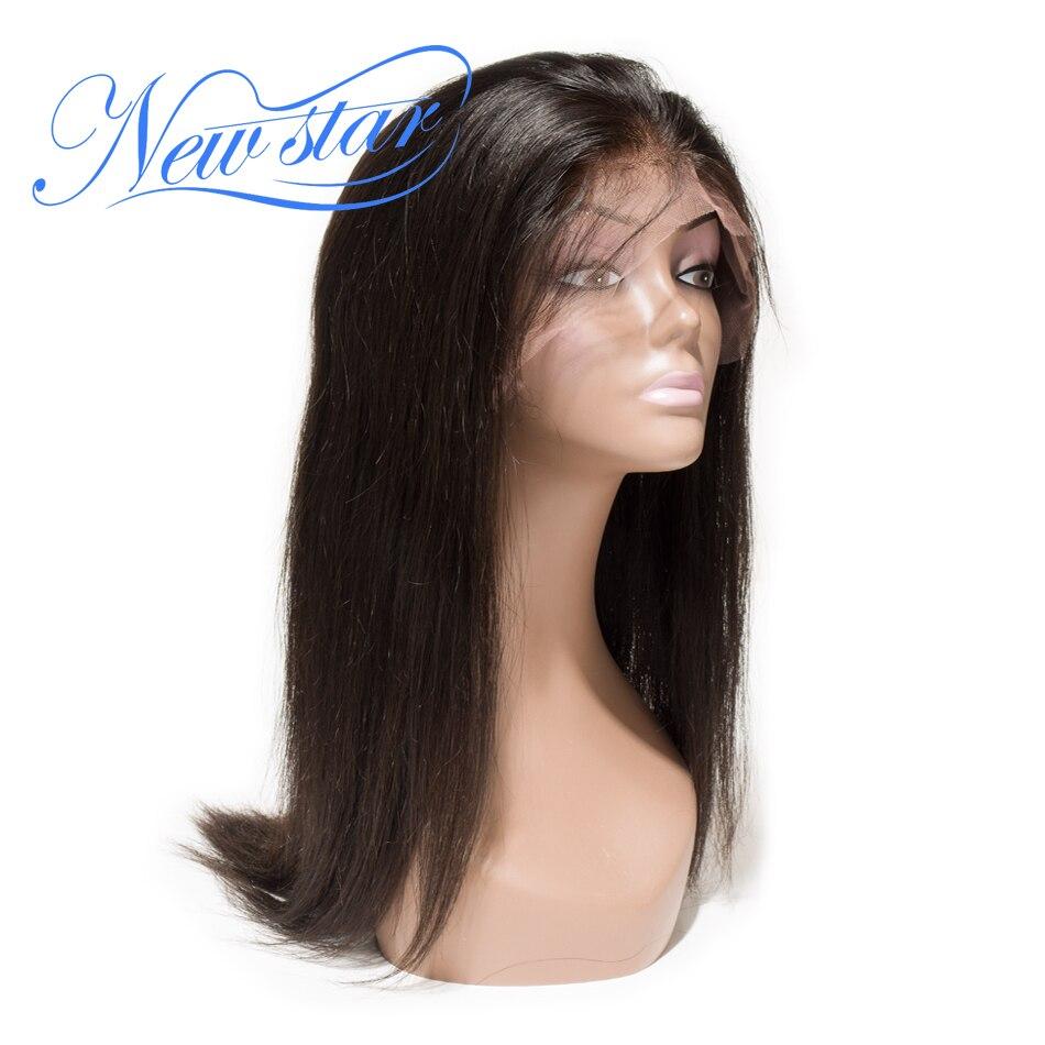 Sans colle Pleine Perruque de Lacet Brésilien Cheveux Raides 130% Densité Vierge de Cheveux Humains Pré Pincées New Star Cheveux Dentelle Perruques Naturel couleur