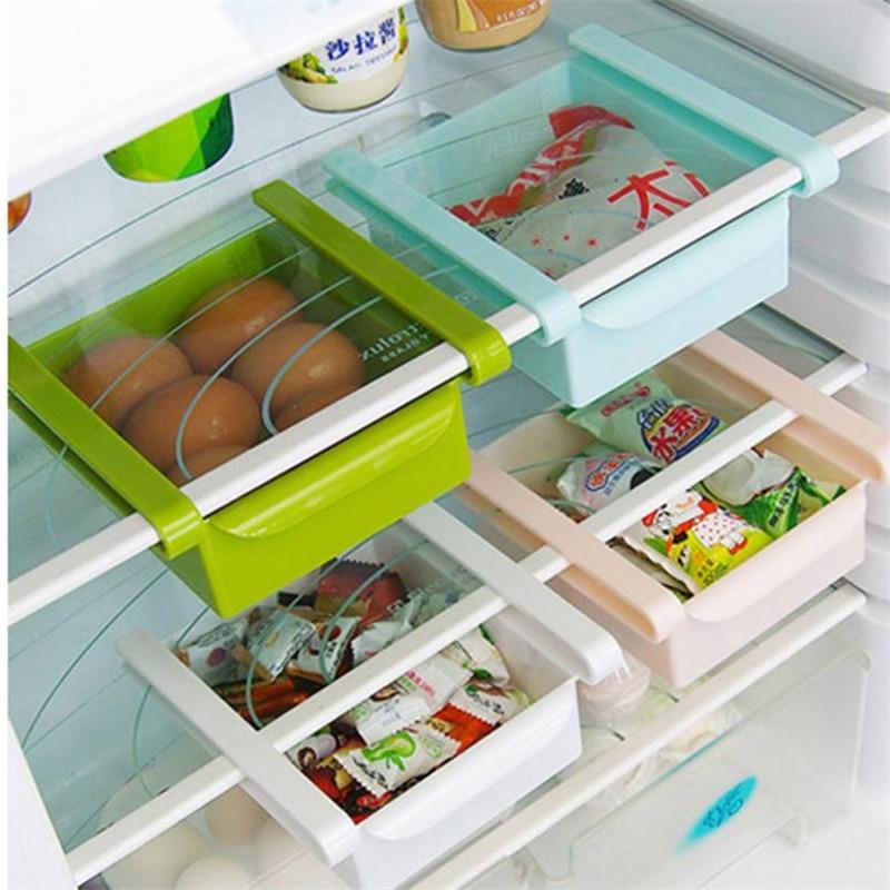 Box Shelf Container Case Drawer Storage-Rack Fridge Slide Remote-Holder Under-Table-Food