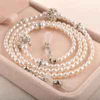 Nouveau Haute Qualité Nature Perle Sungalsses Lunettes Cordon Lanière De Lunettes Titulaire accessoires avec jolie boîte-cadeau