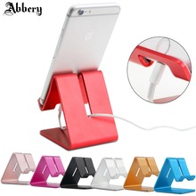 Abbery Aluminum Metal Phone Holder Desktop Universal Non-slip Mobile Phone Stand Desk Holder for iPhone 7 Pad For Samsung Tablet