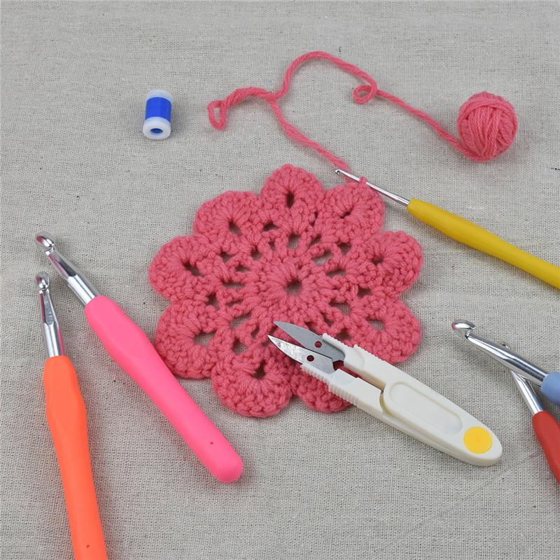 KOKNIT 46pcs Pack Crochet Hooks Set with Case 9 Large Eye Blunt Needles for Knitting Ergonomic Handle Crochet Hooks for Women (5)