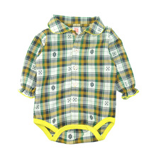 Spring New Child Lady Lengthy-sleeved Shirt Polo Siamese Romper Child Onesies