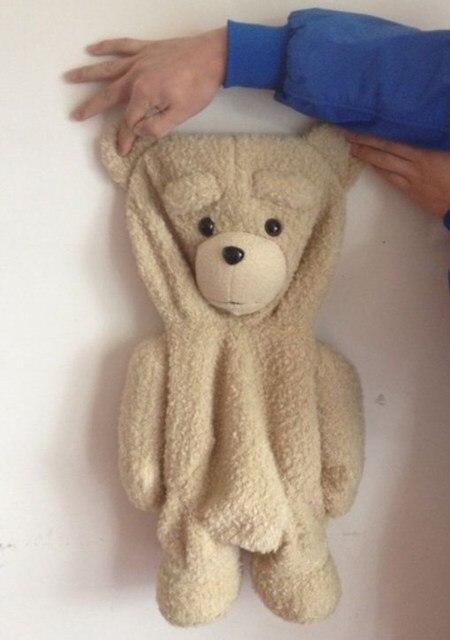 2003 55 см тед медведь натуральная, Аутентичные плюшевый медведь пальто, Младенцы медведь плюш кукла медведь валентина