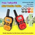 Мини Wakie Takies 22 Каналов FRS GMRS 2Way Радио ЖК-Дисплей Простота в Эксплуатации + 2 * Аккумулятор + USB кабель для Детей